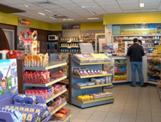de Shop in het shell station in zevenbergen